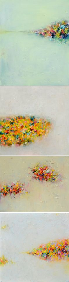 Abstract oil landscapes by Yangyang Pan