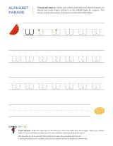 Lowercase w letter tracing worksheet, with easy-to-follow arrows showing the proper formation of the letter.