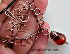 Wired Copper Heart Necklace