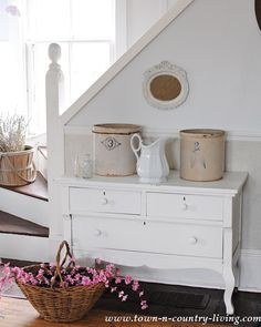Use a few simple touches to add a little country to your decor.