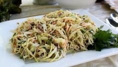 The Cottage Home: Maple Pecan Coleslaw