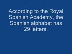 Spanish alphabet song