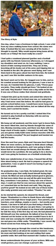 Beautiful story, and such an easy way to make an impact!!