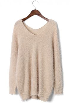 Fluffy Oversize Ivory Sweater