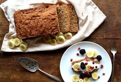 Coconut Maple Banana Bread Recipe via @Pretty Prudent // #banana #bananabread #recipe