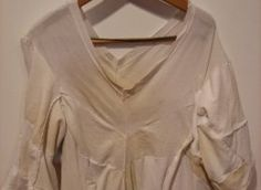 how to clean underarm sweat stains from colored clothing - even if the article of clothing has been washed/dried before!