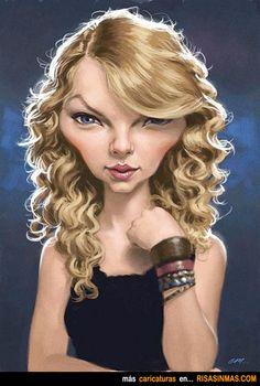 Caricatura de Taylor Swift.