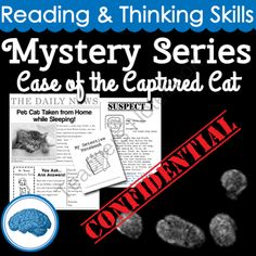 Mystery Series: Case of the Captured Cat   Reading & Thinking Skills from Selma Dawani on TeachersNotebook.com -  (17 pages)