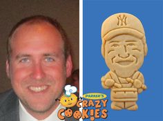 Husband's Birthday Party - Custom Cookies - Unique Favors - Personalized - Surprises #Husband's #Birthday #Party #Surprises #Custom #Cookies #Unique #Favors #Yankees