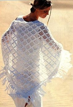 white summer shawl