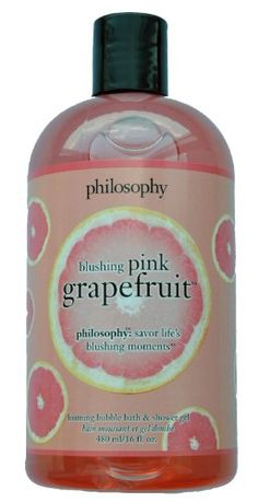 I bet this one smells great!  Philosophy Blushing Pink Grapefruit Shampoo/Shower gel 3-in-1