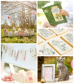Alice in Wonderland Tea Party with SUCH CUTE IDEAS via Kara's Party Ideas   Cake, decor, cupcakes, favors, printables, games, and MORE! #ali...