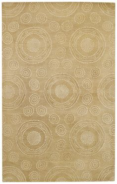 Spinning Wheels Rug in Straw looks great in any southern home! #CapelRugs