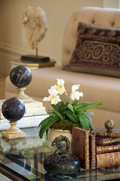 Lovely vignette by Candice Barnes Interior Design