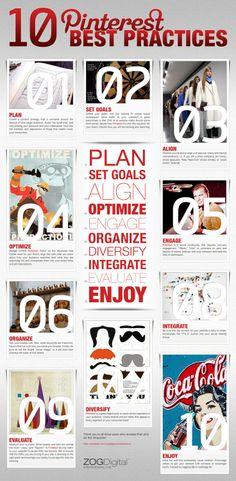 10 Pinterest best practices #Infographic #pinterest #socialmedia