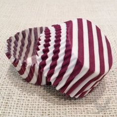 Striped Cupcake Liners, Standard Size Baking Cups BULK - 50 Liners (6 Colors Available!)
