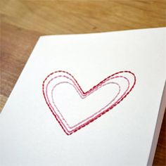 Tutorial and templates for simple yet beautiful hand stitched cards.