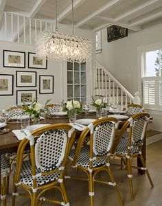 traditional-dining-room Schranghamer Design Group Suzy q, better decorating bible, blog, French, paris, bistro, chair, woven, antique, affor... picture arrangements, dining rooms, chair, cottag, french bistro, frame, dine room, light fixtures, design