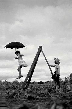 mary poppins, umbrellas, galleri, 1955, children, haruo ohara, childhood, photographi, photography kids