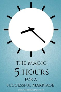 The magic 5 hours for a successful marriage. What's the difference between a successful marriage and a lackluster one? Surprisingly, it's just 5 hours a week.