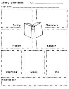 Story Elements Organizer Freebie