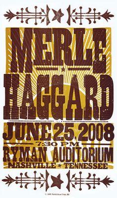 GigPosters.com - Merle Haggard