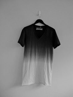 Black to White Ombre
