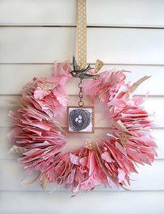 paper scrap wreath
