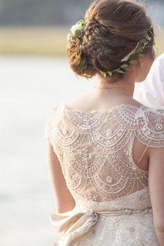 beaded wedding dress detail, photo by The Click Chick Photography http://ruffledblog.com/notwedding-charleston #weddingdress #bridalfashion