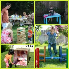 {Amazing Ideas for Creative Backyard Play} --> 6 great ways to turn your backyard into a fun zone this summer!