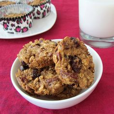 Oatmeal Breakfast Cookies - Vegan Gluten-Free Dairy Free