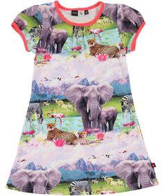 Molo Amazing Cool Junior Dress With Beach Safari Print #emilea