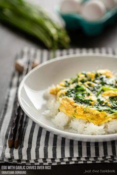 Egg with Garlic Chives Over Rice (Niratama Donburi) | Easy Japanese Recipes at JustOneCookbook.com