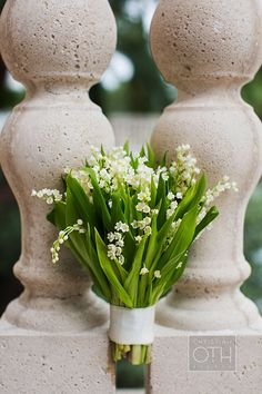 A classic Lily of the Valley bridal #bouquet | @christianoth | Brides.com