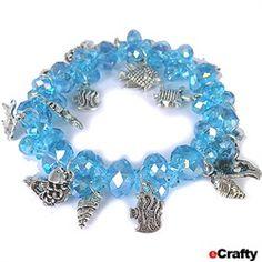 #ecrafty #diycrafts #diyjewelry #oceancharms #facetedcrystalbracelet