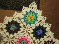 Pointy Edge pattern for hte Flowers in the Snow blanket by WarpSpeedLinda