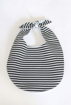 Perfect baby gift! The French Terry Bib // Onyx Stripe