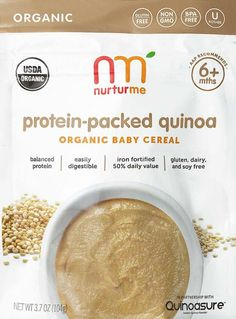 NurturMe Quinoa Cereal: Smart alternative to rice cereal for babies.
