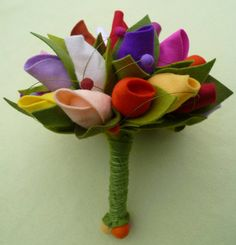 Felt Bouquet Tulip by feltandmore on Etsy; Love this!!!