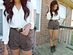High waisted shorts are the best.
