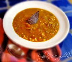 Spicy Pumpkin Soup with Coconut Milk aka Santa Fe Pumpkin Chowder #glutenfree #soup #comfortfood