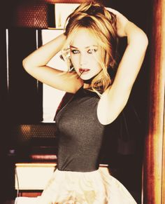 She's like 10 and 40 at the same time. She would be sort of goofing around, and you think she's not really paying attention. And then she would turn on this instant laser focus and do something magical. [Bradley Cooper on Jennifer Lawrence]