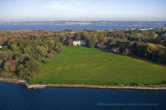 Blithewold Mansion as seen from the air http://www.blithewold.org #Bristol #RI
