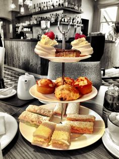 afternoon tea full cake stand sandwiches scones meringues tarts review nottingham