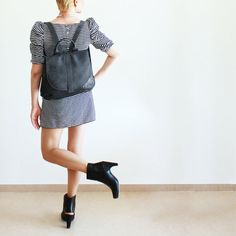 Hey, I found this really awesome Etsy listing at http://www.etsy.com/listing/170501891/black-backpack-bag-leather-backpack