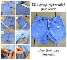 DIY Jean Shorts: high-waisted