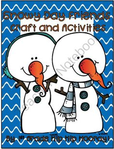 Snowy Day Friends...Literacy/Craft...Save My Ink! from 1st Grade Hip Hip Hooray on TeachersNotebook.com -  (50 pages)  - Literacy stories and balanced literacy ideas.