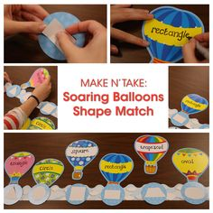 Have extra bulletin board pieces lying around? Use them for a center activity! Like this Shape Matching Game made with left over border and cut-outs!