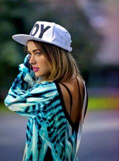 Swag girl in cap <3