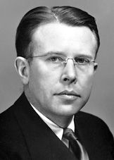 Ernest Lawrence   (1901 - 1958) Nobel prize winning scientist that built the first cyclotron, a machine that smashes atoms. Born in Canton, SD